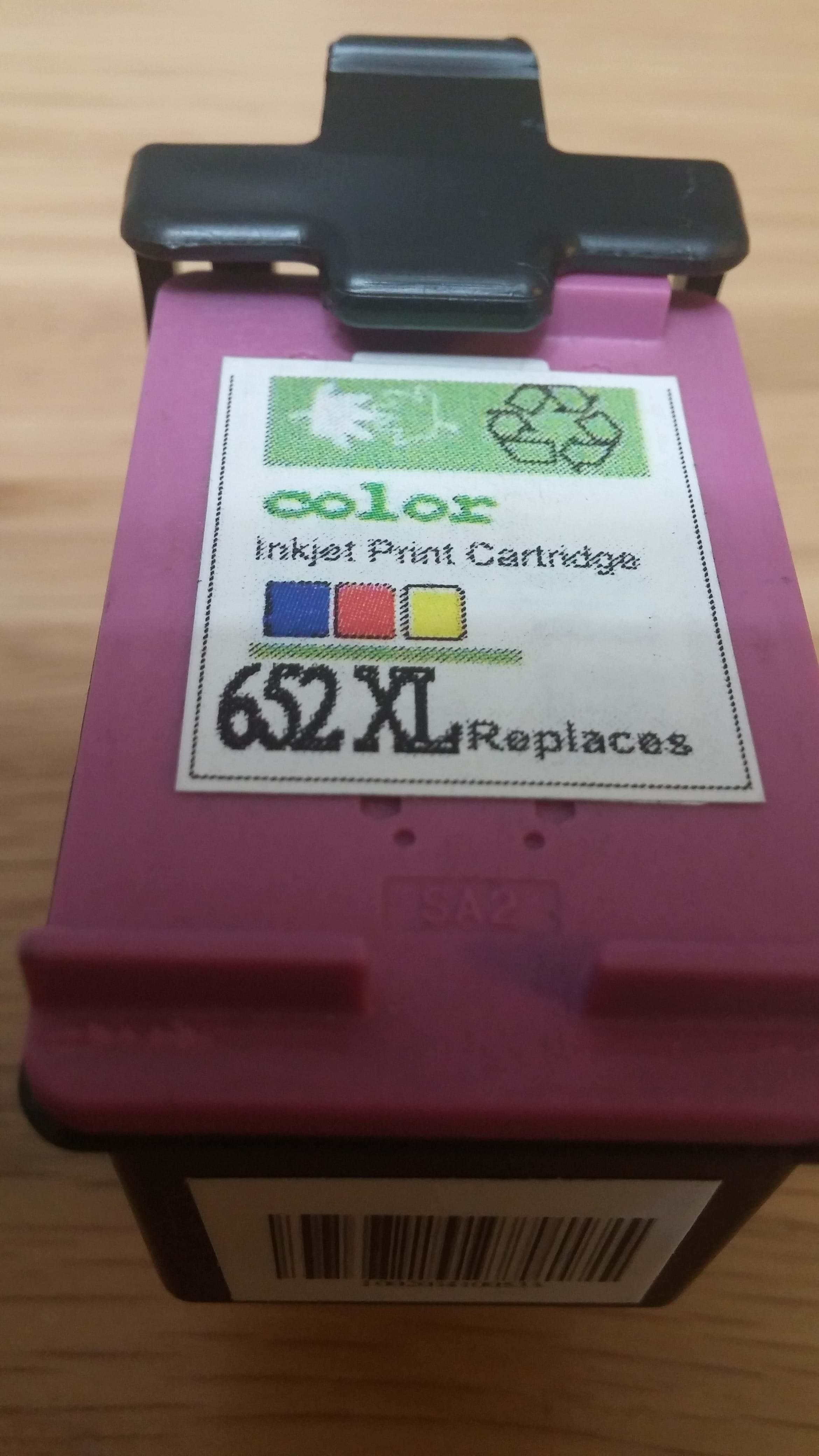 רק החוצה ראש דיו צבעוני תואם 652 XL כמות כפולה HP Deskjet ink advantage EB-23