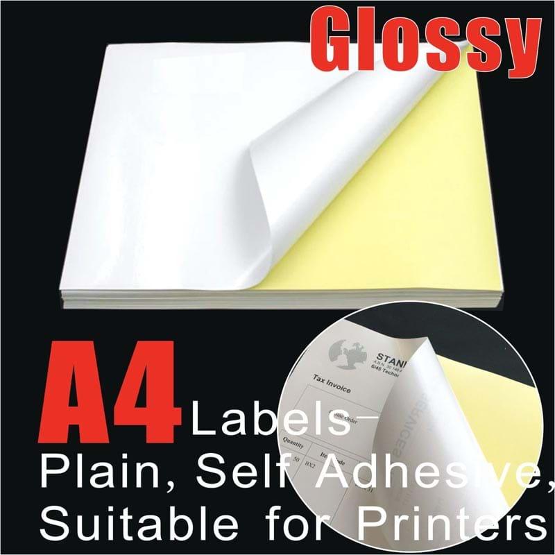 מצטיין מדבקות עמידות בצבע לבן מבריק למדפסת לייזר - מתיפרינט KJ-23